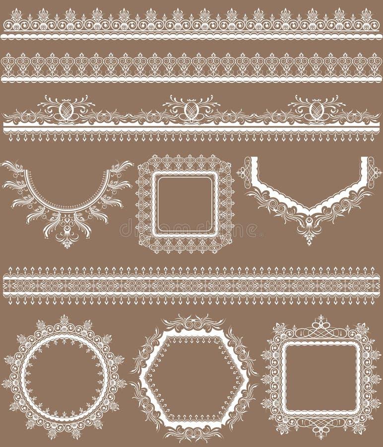 Frame do laço ilustração stock