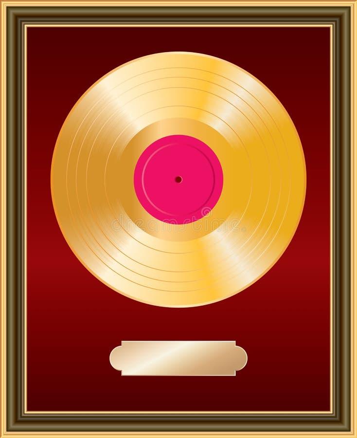 Frame do LP do ouro ilustração do vetor