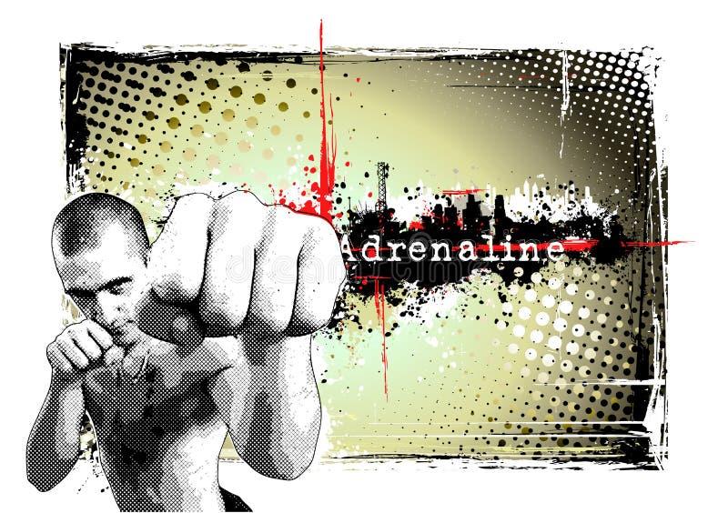 Frame do lutador ilustração stock