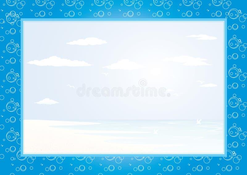 Frame do mar ilustração do vetor