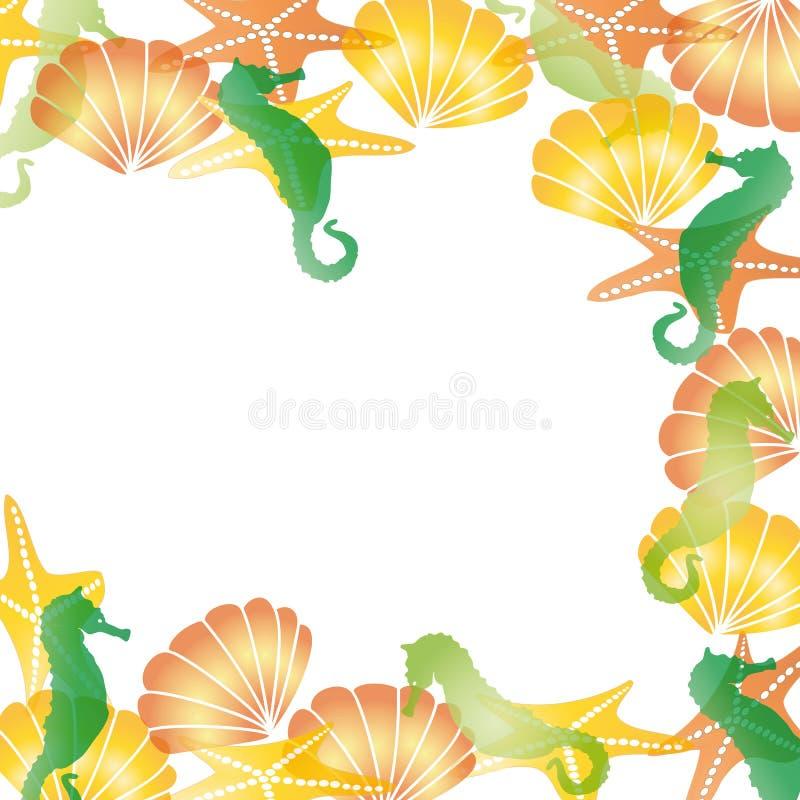 Frame do mar ilustração stock