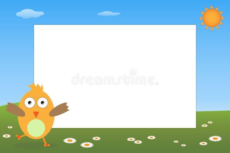 Frame do miúdo - pássaro ilustração stock