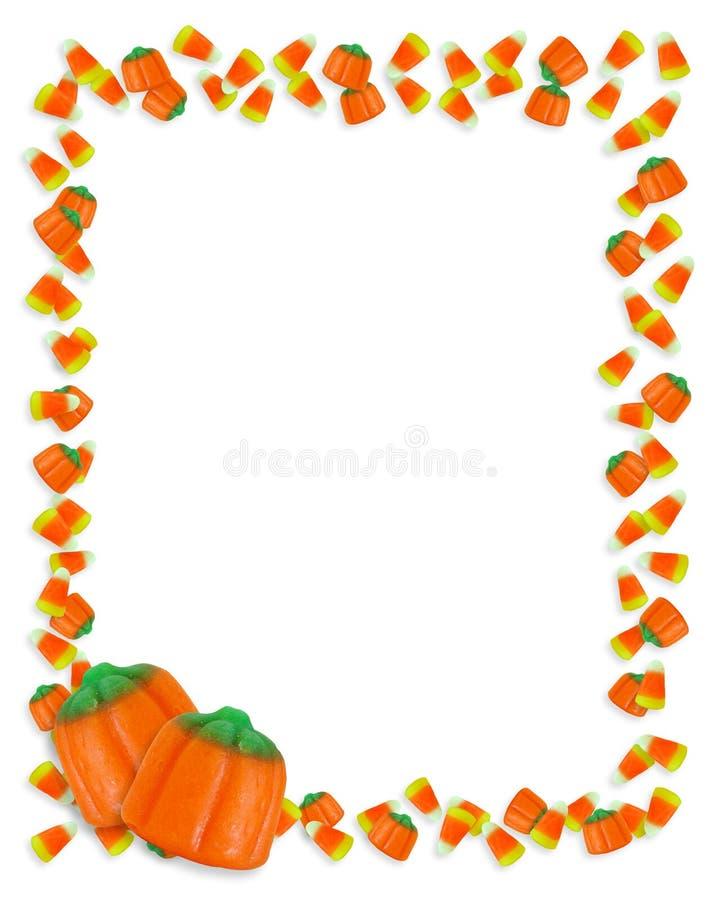 Frame do milho de doces de Halloween ilustração do vetor