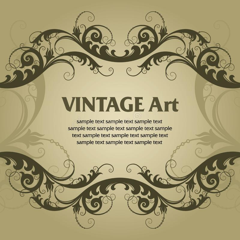 Quadro do molde do vintage foto de stock royalty free