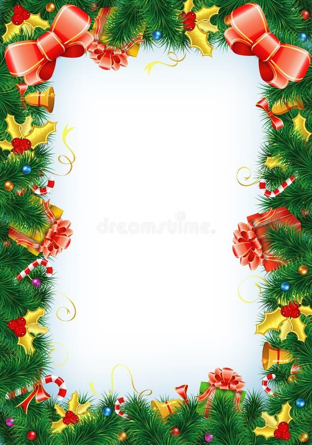 Frame do Natal ilustração do vetor