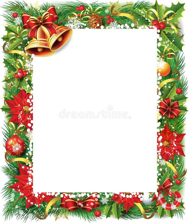 Frame do Natal ilustração stock