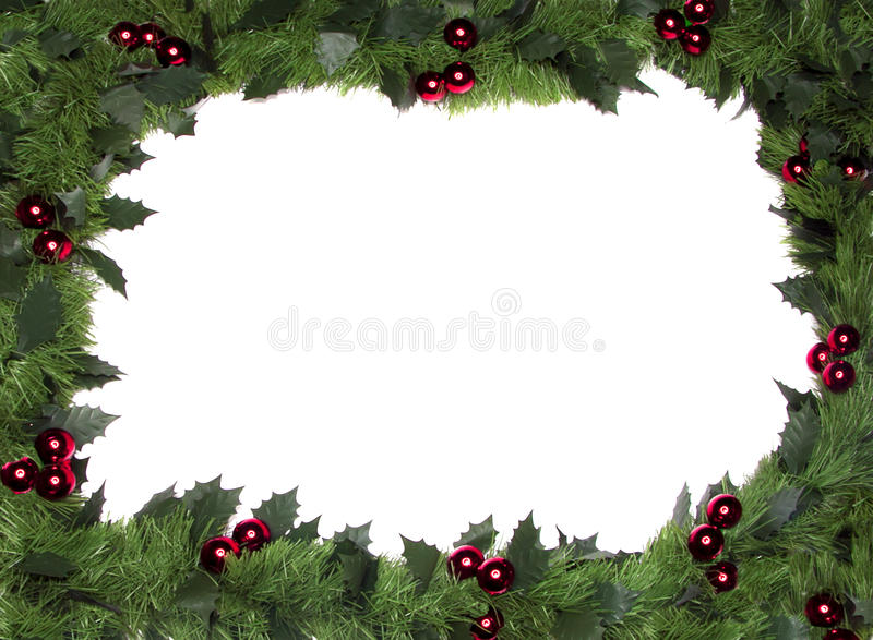 Frame do Natal, beira foto de stock royalty free