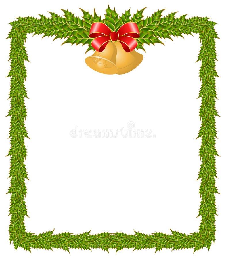 Frame do Natal com sinos ilustração do vetor
