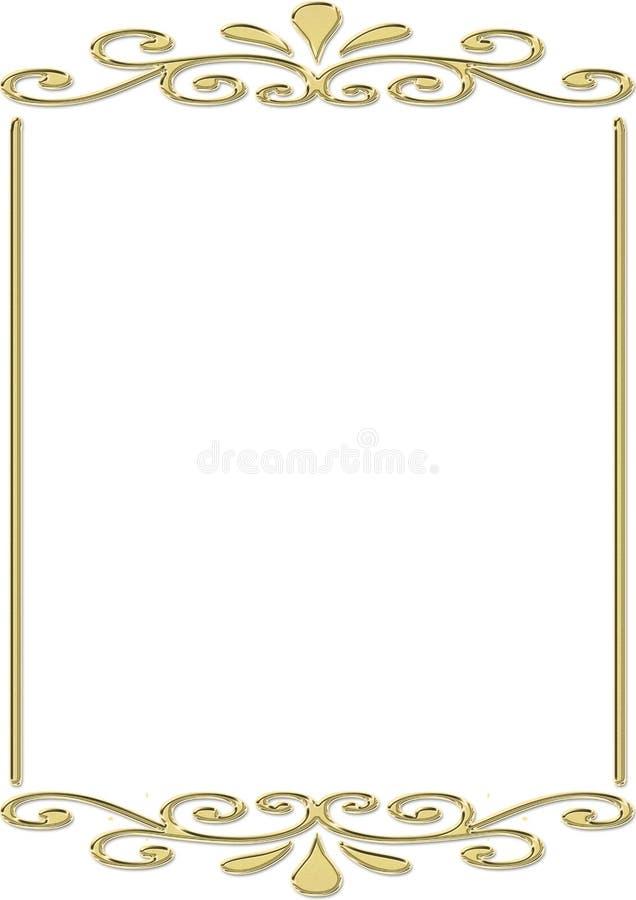 Frame do ouro ilustração royalty free