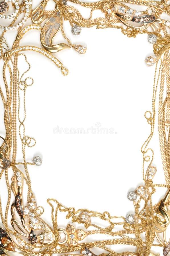 Frame do ouro foto de stock