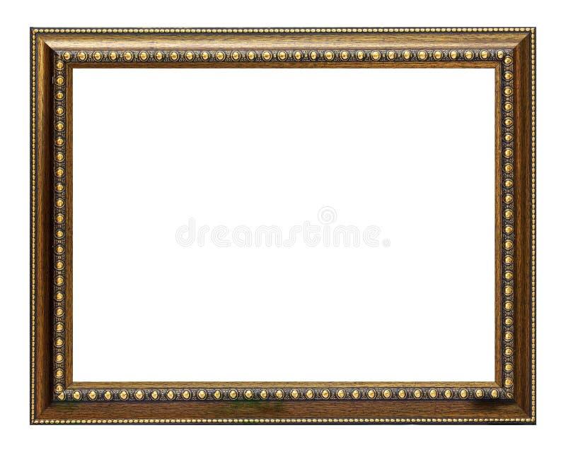 Frame do ouro e da madeira foto de stock