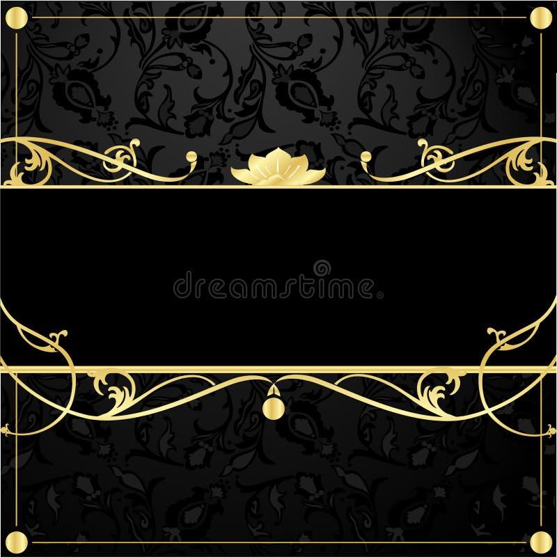 Frame do ouro no estilo do vintage ilustração stock