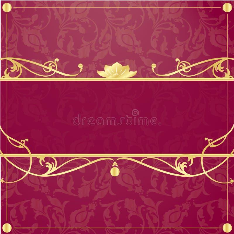 Frame do ouro no estilo do vintage ilustração do vetor