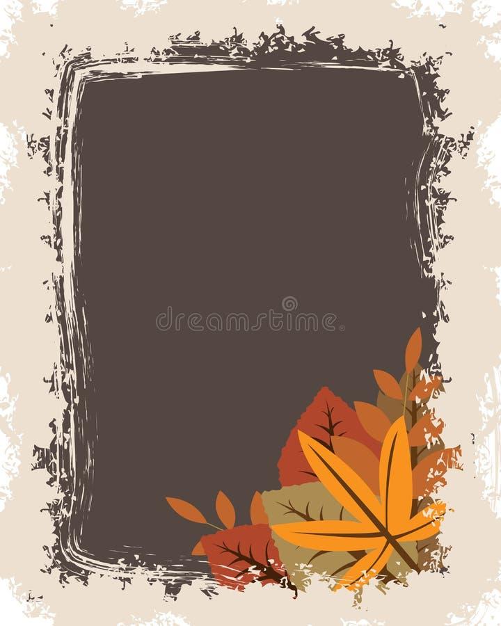 Frame do outono de Grunge ilustração royalty free