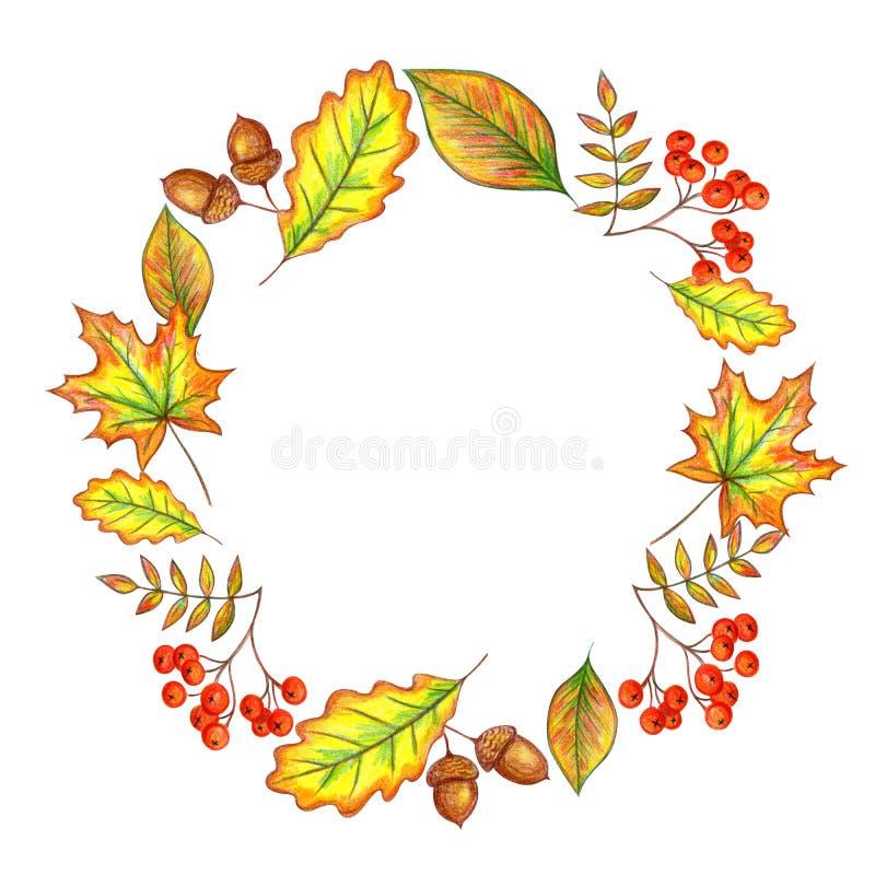 Frame do outono ilustração stock
