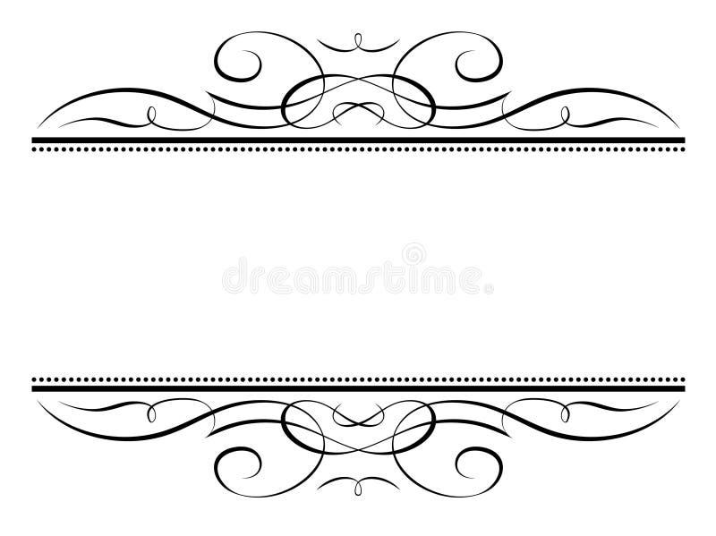 Frame do penmanship da vinheta da caligrafia ilustração do vetor