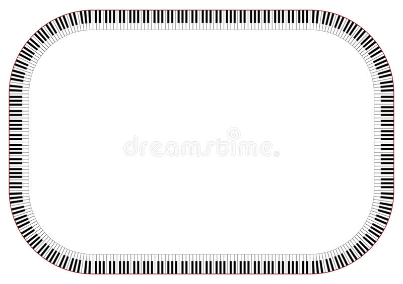 Frame do piano ilustração stock