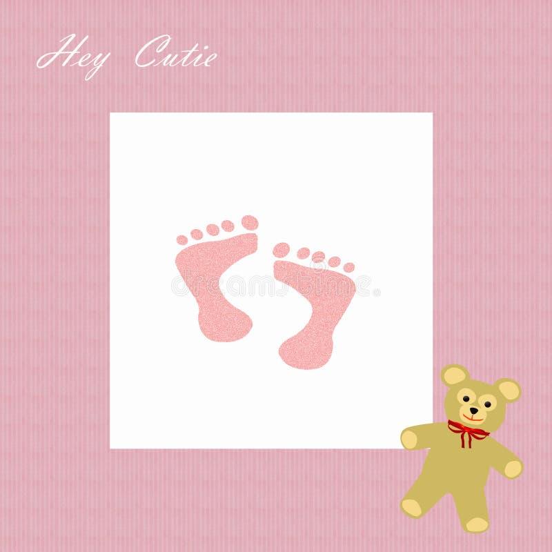 Frame do scrapbook da menina de Cutie ilustração stock