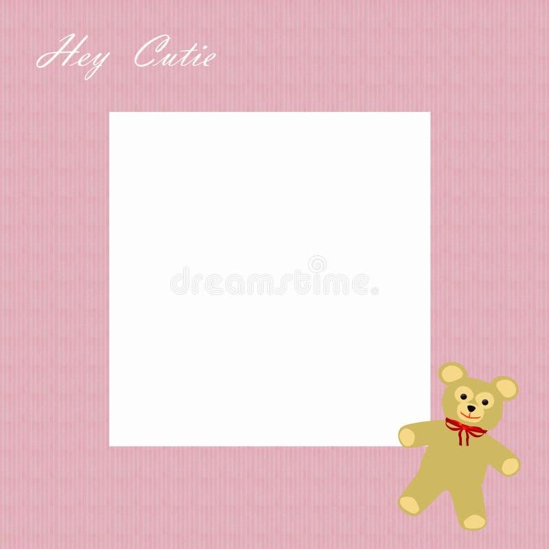 Frame do scrapbook da menina de Cutie ilustração do vetor