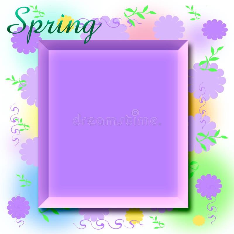 Frame do scrapbook da mola ilustração do vetor