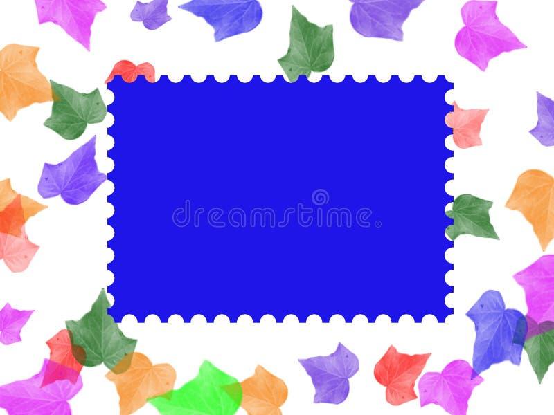 Frame do selo de porte postal ilustração royalty free