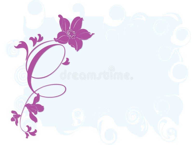 Frame do Tulip ilustração royalty free