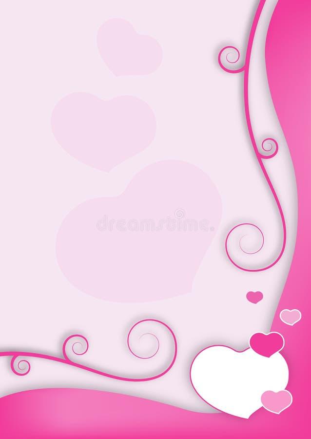 Frame do Valentim ilustração stock