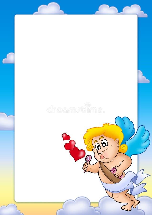 Frame do Valentim com Cupid 1 ilustração royalty free