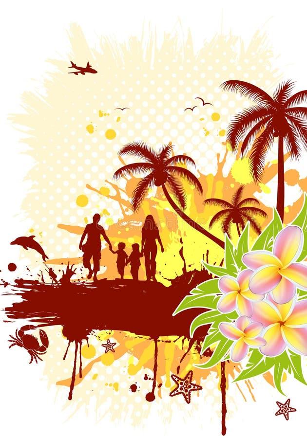 Frame do verão ilustração stock