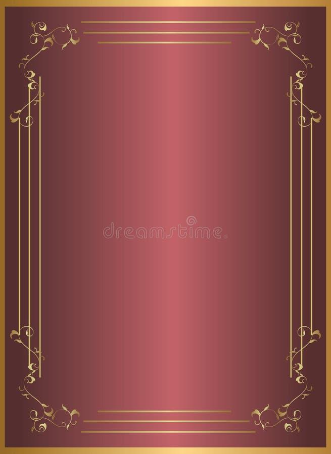 Frame do vermelho do ouro imagem de stock royalty free
