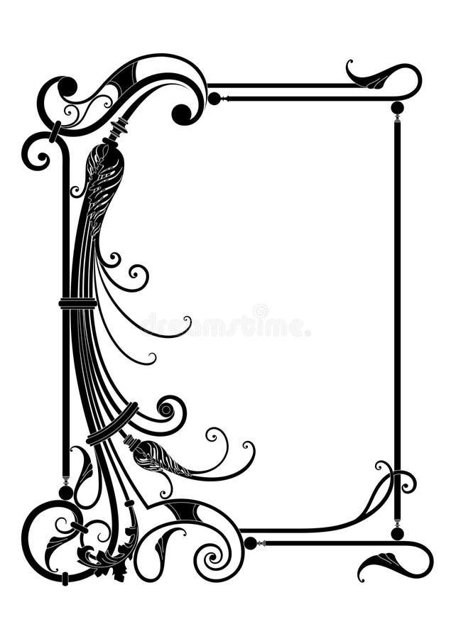 Frame do vetor com decoração floral ilustração do vetor