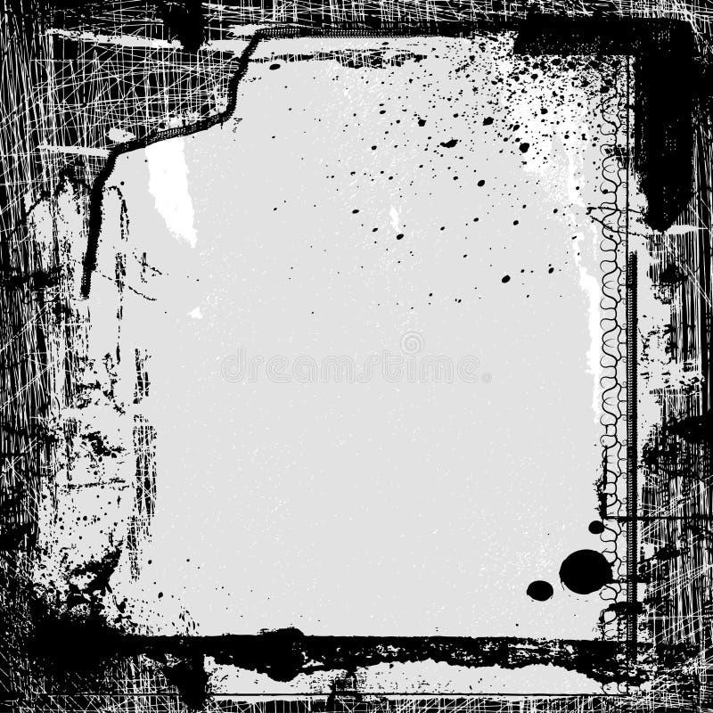 Frame do vetor de Grunge ilustração do vetor