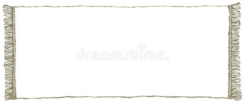 Frame do vetor Toalha com franja ilustração stock