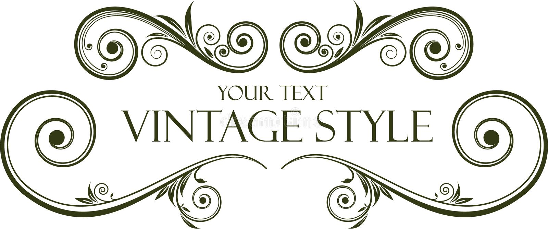 Frame do vintage ilustração royalty free