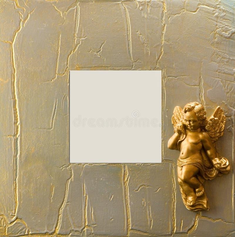 Frame do Xmas com anjo imagem de stock royalty free