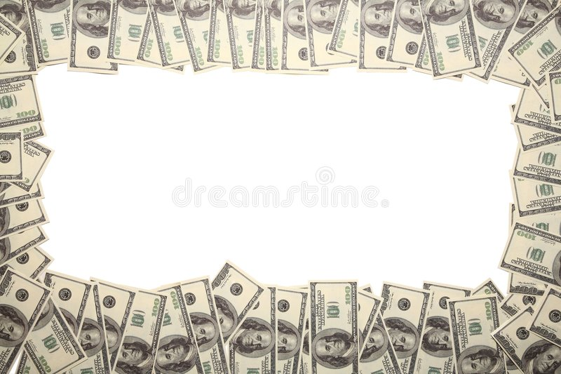 Download Frame from the dollars stock image. Image of isolated - 4485709