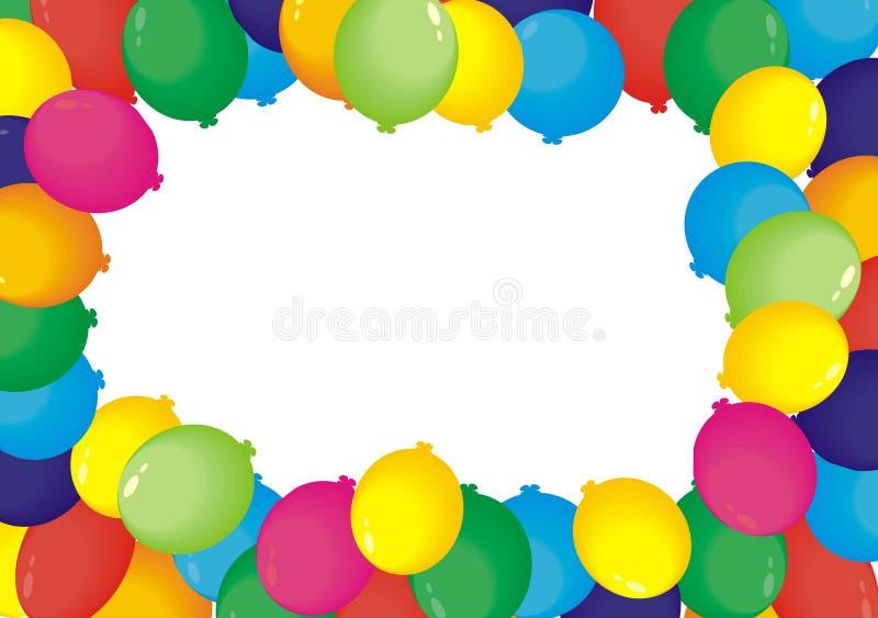 Frame dos balões fotografia de stock royalty free