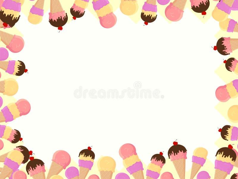Frame dos cones de gelado ilustração royalty free