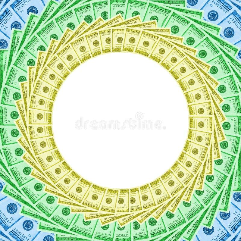 Frame dos dólares da cor fotografia de stock