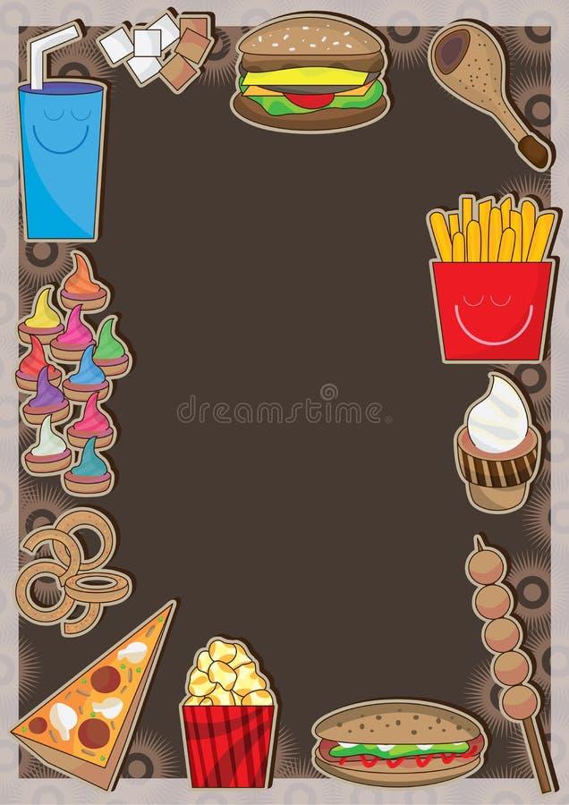 Frame dos fasts food ilustração royalty free