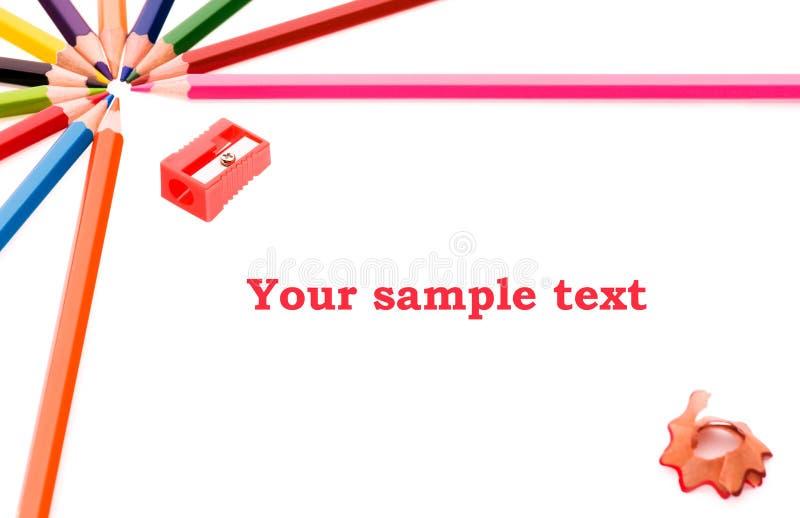 Frame dos lápis foto de stock royalty free