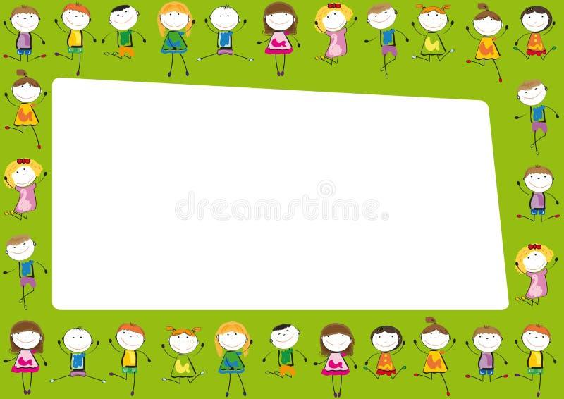 Frame dos miúdos ilustração royalty free