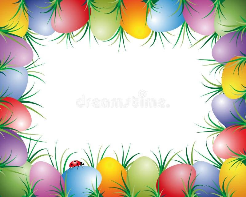 Frame dos ovos de Easter ilustração do vetor