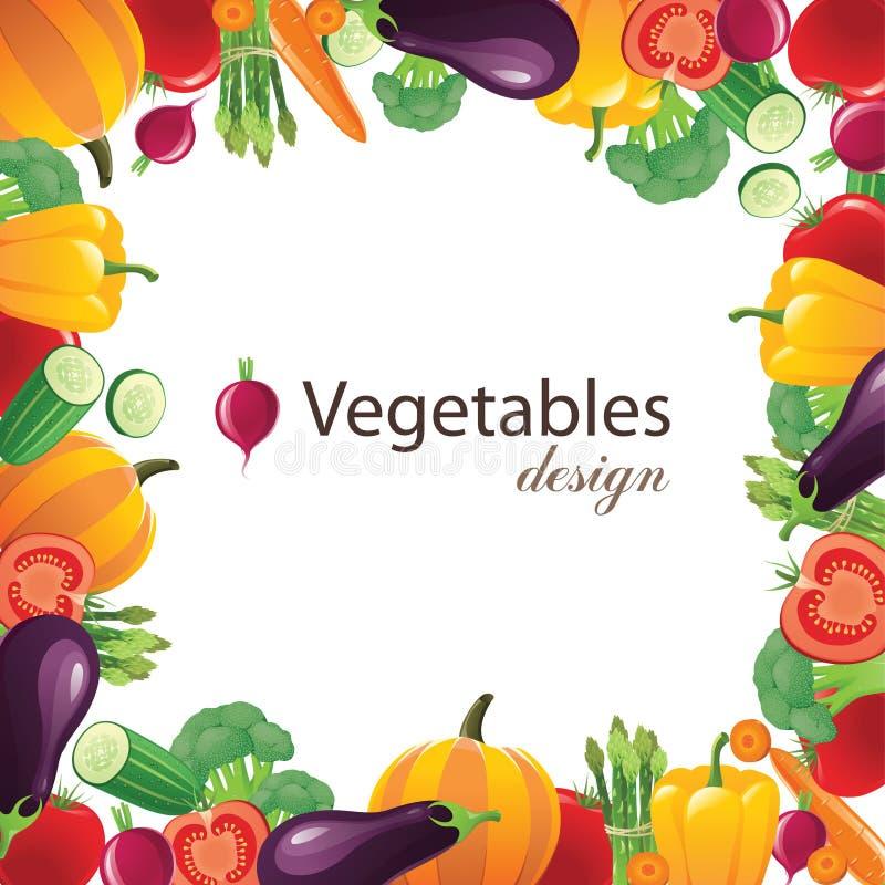 Frame dos vegetais ilustração do vetor