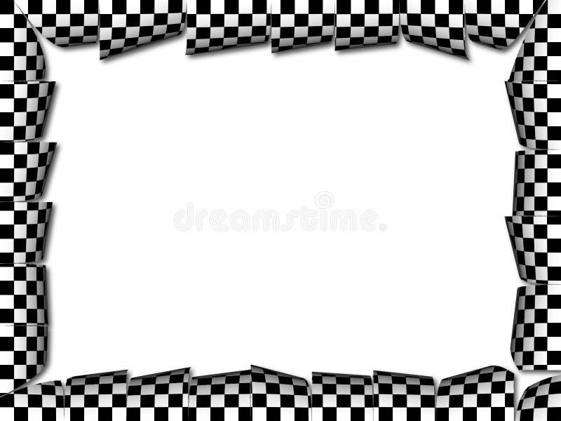 Frame dos verificadores ilustração stock