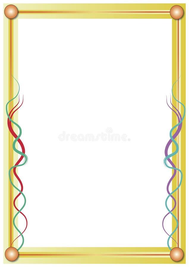 Frame dourado ilustração do vetor