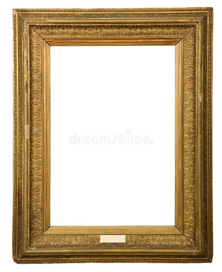 Frame dourado antigo foto de stock
