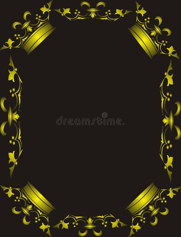 Frame dourado da coroa ilustração royalty free