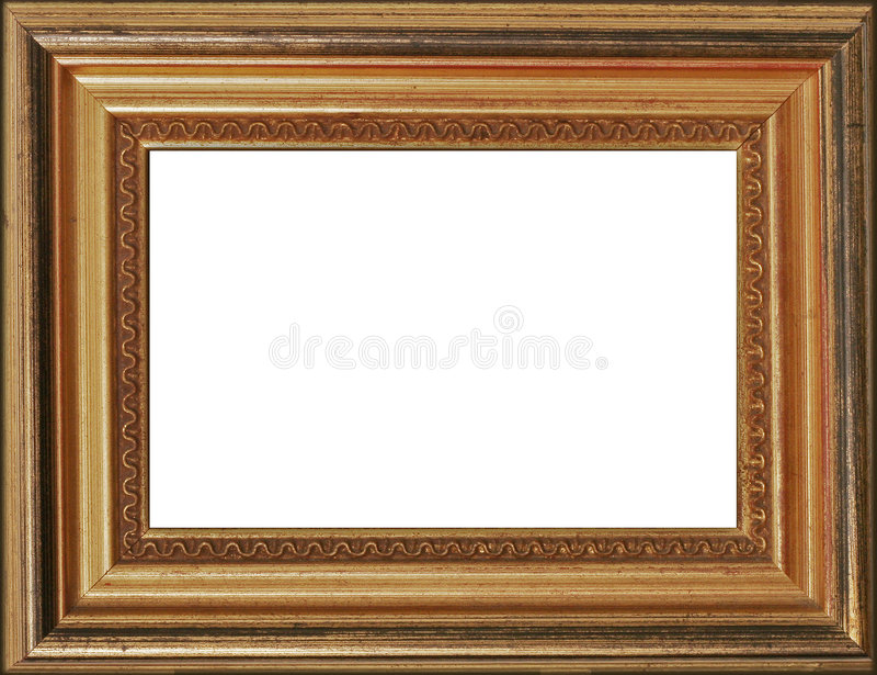 Frame dourado da foto fotografia de stock royalty free