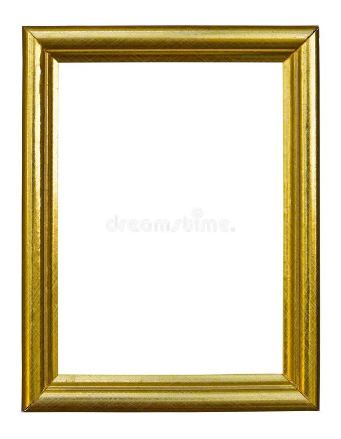 Frame dourado da imagem da foto do estilo antigo fotos de stock